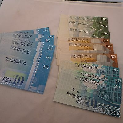 Obsolete Notes - Finland Markkaa - 580 Face Value - No Reserve!