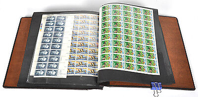 $865.67 Face Value US United States Postage Stamps w/ Binder -Unused Full Sheets
