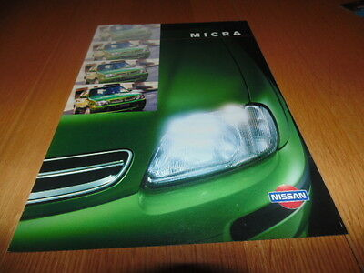 Nissan Micra sales booklet 1998