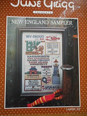 New England Sampler Cross Stitch Chart Booklet by June Grigg