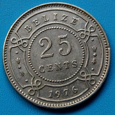 Belize . 25 cents 1976
