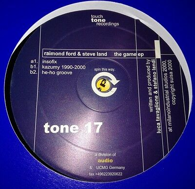 Raimond Ford & Steve Land - The Game Ep Tone17 Touch Tone Recordings 2000 Vg+!