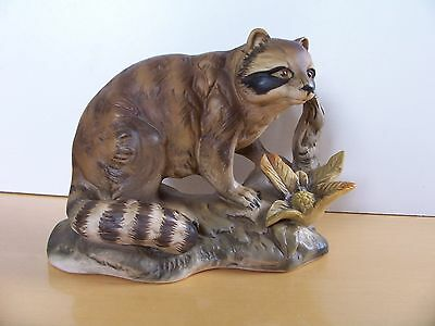 Vintage Pottery Racoon Study with a Crown over `S` Mark - Excellent Condition.