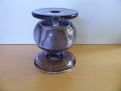 Heavyweight Pressed Glass Candlestick / Candle Holder - Excellent Condition.