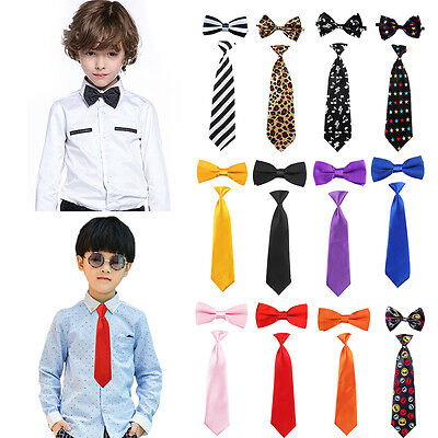 Children Kids Toddler Boys Girls Gentleman Sets Bowtie Pre Tied Bow Tie Necktie