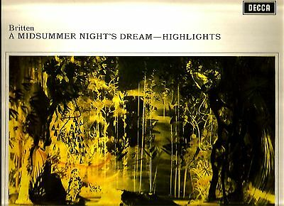 "1969 DECCA STEREO (Wide Band) * BENJAMIN BRITTEN ""A MIDSUMMER NIGHTS DREAM"""
