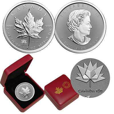 2017 Canada $5 1 oz Reverse Proof Silver Maple Leaf -CANADA 150 Privy Mark