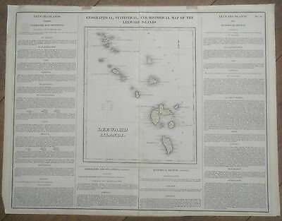 1820s, Leeward Islands - Geographical, Statistical & Historical Map