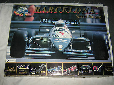 A Boxed Speed World Barcelona Speed Racing 1:32nd Scale Slot Car Racing Set