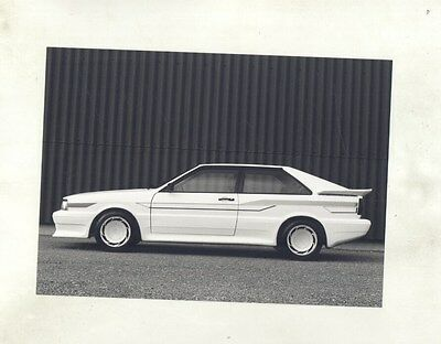 1982 ? Audi Treser Tuner Super Pfcil Coupe Quattro ORIGINAL Factory Photo ww6229