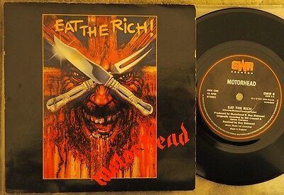 "Motorhead - Eat The Rich (Uk, 1987, Gwr Recs 7"", Vg+ Cond, Pic Sleeve)"