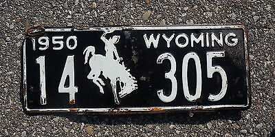 1950 Wyoming License Plate # 14 - 305