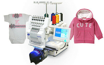 Happy Journey 7 Needle Industrial Embroidery Machine WITH FREE CAP HOOP+DRIVER