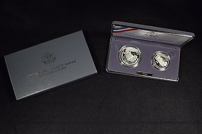 1991-S Mount Rushmore 2 Coin Commemorative Proof Set In Box W/o Cert
