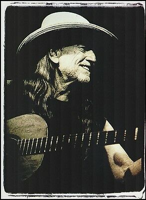 Willie Nelson with his Trigger a Martin N-20 acoustic guitar pinup photo print