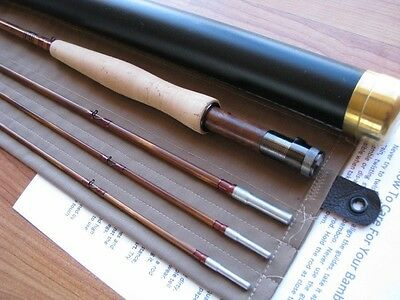 Bamboo Fly Rod 7-1/2'  3section.  2 Tips  6 Wt.