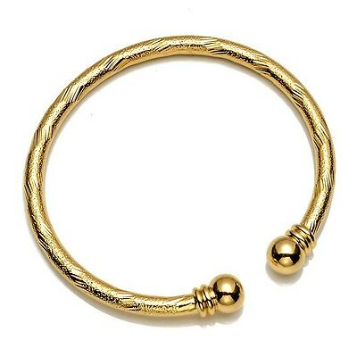 18k Yellow Gold Filled Open Womens Bangle Bracelet Unique Jewelry Charms Gift