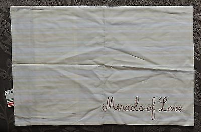 VERTBAUDET 'Miracle of love' Embroidered Cotton Pillowcase Nursery BNWT