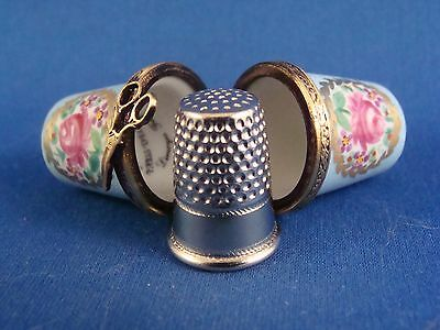Thimble Holder with Thimble - authentic FRENCH LIMOGES box