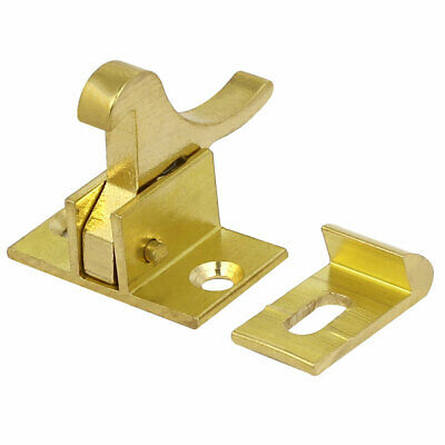 Home Office Windows Brass Compression Spring Loaded Toggle Latch Catch Gold Tone