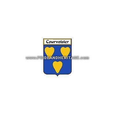 """Genealogy, Family Crest 6"""" Decal- French- Courvoisier"""