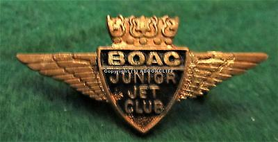 B.O.A.C. AIR LINES JUNIOR JET CLUB WINGS METAL With ENAMEL ENGLAND MINT