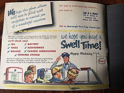 A Happy Vacation 1953 Scrap Book From  MERCER ESSO  PATRICK STREET FREDERICK, MD