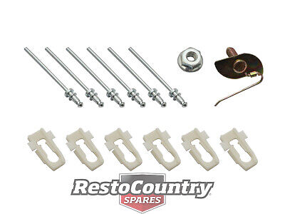 Ford Moulding Trim Clip Kit TOP OF DOOR XA XB XC COUPE mould chrome cpe