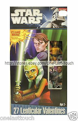 STAR WARS* 27 Lenticular Cards ANIMATED SERIES Clone Characters VALENTINES 4/10