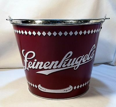 Leinenkugel Beer 5Qt Logo & Canoe Metal Ice Bucket Cooler New