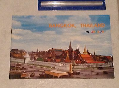 Vintage Bangkok, thailand travel brochure, early 1960's, full color, exc cond