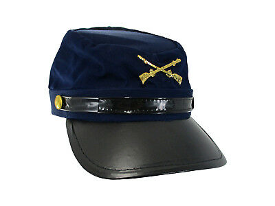 Civil War Federal Union Army Soldier Cotton Hat Navy Kepi Cap Costume Accessory