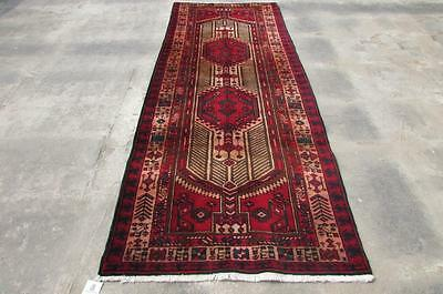 3'8X9'7 hand knotted tribal Persian Rug Vintage Woolen  Oriental Carpet  26