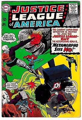 JUSTICE LEAGUE OF AMERICA #42 (GD+) Early Metamorpho Appearance! DC 1966