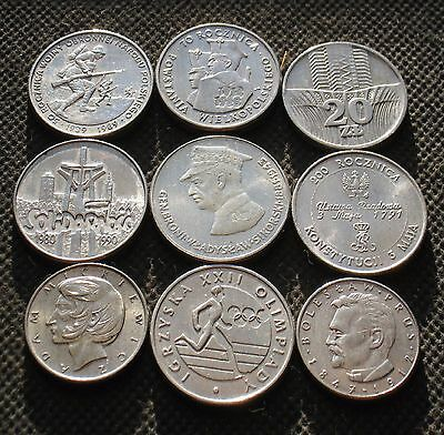 Old Commemorative Coins Of Poland (Lot Of Nine) -  Mix 277