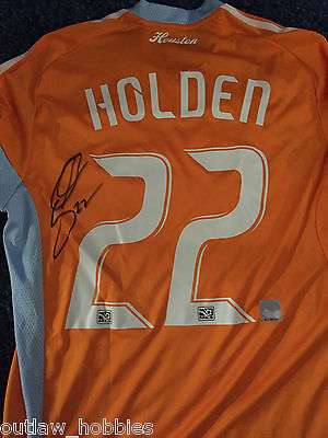 Houston Dynamo Stuart Holden Game Used Jersey Signed MLS Authentic COA