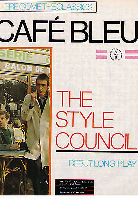 "1982 The Style Council ""Cafe Bleu"" Debut Long Play Album Print Advertisement"