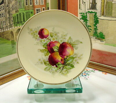 "Bavaria Turin Crown & Shield Stamp Hand Painted 8 3/8"" Apple Blossom Plate"