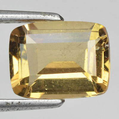 Rare Gems Stone Collection! Excellent Beautiful Yellow Beryl 1.79 Ct Cushion Cut