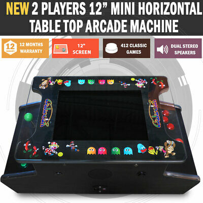 "NEW 12"" Mini Arcade Machine Tabletop Upright Cocktail Video Game Pinball Pool"