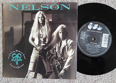 Nelson (Can't Live Without Your) Love & Affection/will You Love Me P/s Near Mint