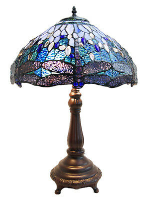 New Arrivals @Large Baroque Style Leadlight  Stained Glass Tiffany Table Lamp