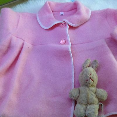 AUTHENTIC VINTAGE 1970s UNUSED BABY GIRLS INFANT  PRAM COAT  3/6 MONTHS PINK