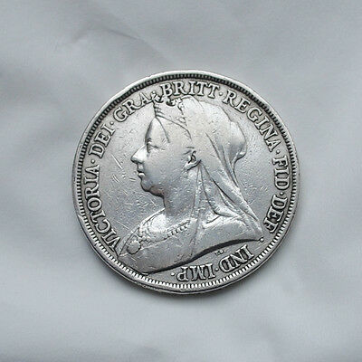 Silver Crown Queen Victoria Dated 1893
