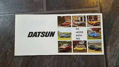 datsun motor show 1975 small booklet