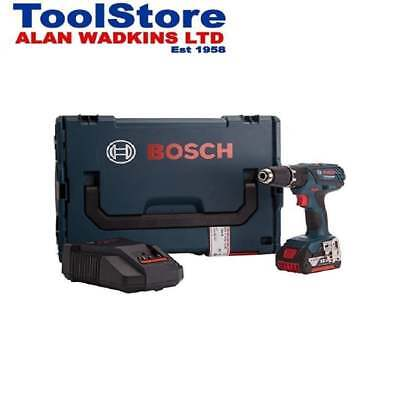 Bosch GSB18-2-LI Plus 18v Combi Drill With 1 x 5.0amp Battery + Charger + L-Boxx