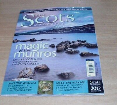 The Scots magazine MAR 2017 Munros, Save the Wildcat, Jackie Kay, Comedy, Fife &