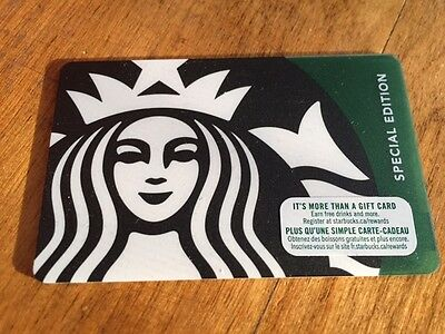 "Canada Series Starbucks ""BLACK & GREEN SIREN 2017"" Gift Card - New No Value"