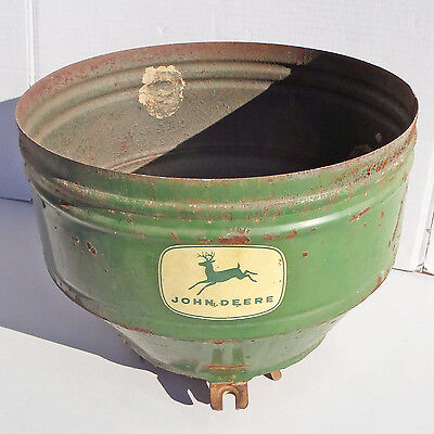 Antique JOHN DEERE JD Seed Planter Attachment / Functional but Rusted Base Latch