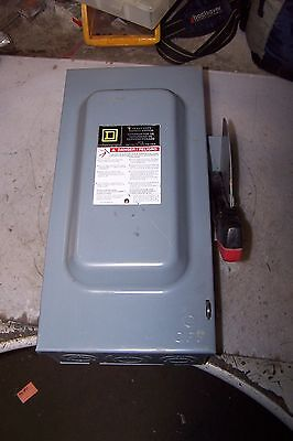 Square D 60 Amp Fused Safety Switch 600 Vac 50 Hp 3 Phase H362